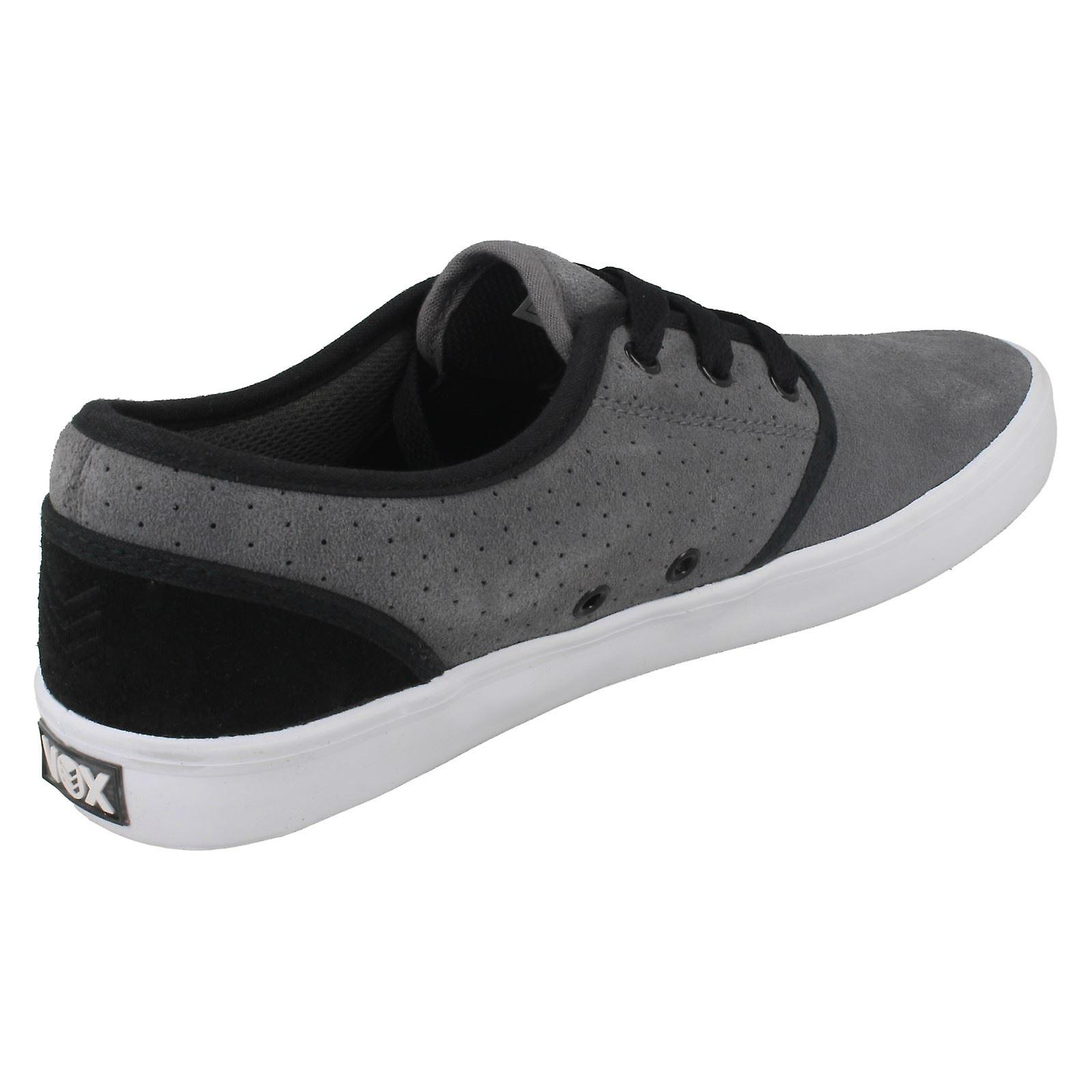 Casual Size White US EU 40 Mens 7 Suede Size Slacker Inc Dark Footwear Shoes 6 Vox Size Black Grey UK zxqwUt
