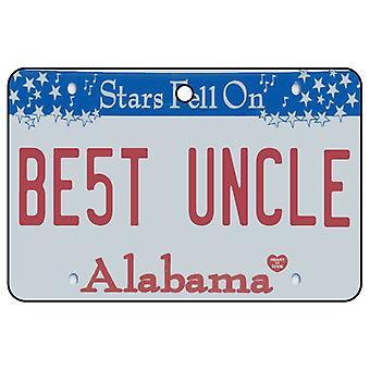 Alabama - Best Uncle License Plate Car Air Freshener