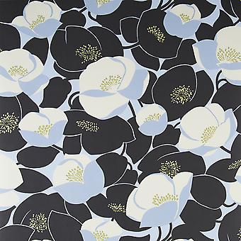 Amy Butler Stone Wallpaper Roll - Flat Floral Poppies Field Design - 50-144