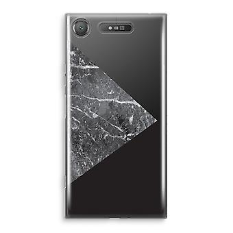 Sony Xperia XZ1 gjennomsiktig sak (myk) - marmor kombinasjon
