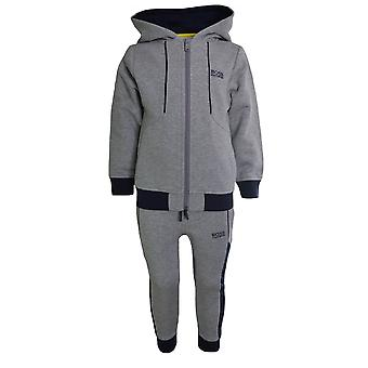 Hugo Boss Kids Hugo Boss Kids Grey And Navy Full Tracksuit