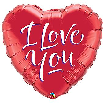 Foil balloon heart I Love you red love wedding about 45 cm