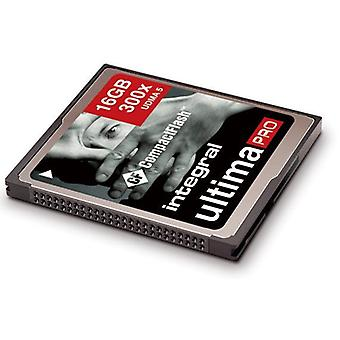 Integrert 16Gb UltimaPro høy hastighet (300 x) CompactFlash-kort