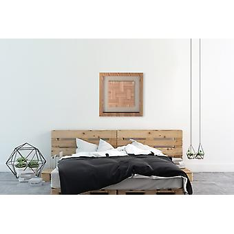 Wood wall picture wall art wood art square pictures wood art 60 cm x 60 cm