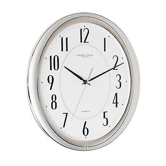 33cm Silver Finish Wall Clock with Silent Sweep Movement