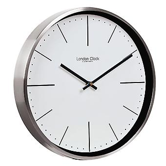 30 cm Brushed Chrome Case Wall Clock