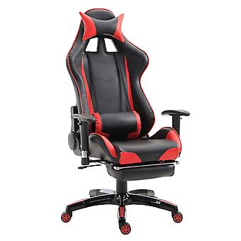 HOMCOM PU Leather Gaming Chair Office Chesterfield Recliner Swivel Ergonomic Executive High Back Red
