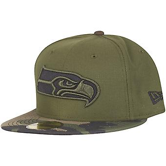 New era 59Fifty Cap - Seattle Seahawks wood camo
