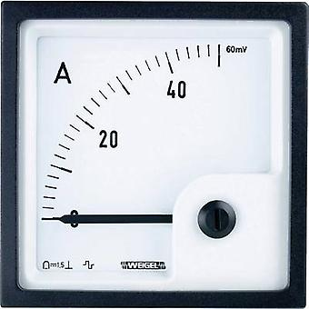 Weigel PQ72K 50A/60mV Control panel instruments with galvanometer 50 A/DC (60 mV) Assembly dimensions 66 x 66 mm