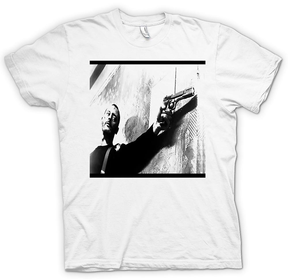 Mens T-shirt - Leon  And White Poster
