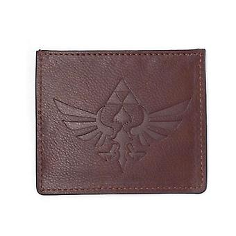 Legend Of Zelda Nintendo Faux Leather Debased Logo Wallet Card Case 28 cm Brown