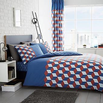 Cubix kuber 4 st påslakan och lakan Polycotton sängkläder ställa sängkläder