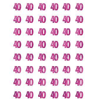 Anniversaire Glitz Pink - 40e anniversaire prisme suspendus décoration