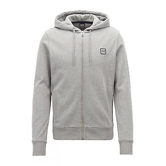 Hugo Boss Casual mäns grå Znacks Hooded Sweatshirt
