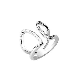 Joop women's ring stainless steel Silver cubic zirconia refined JPRG00011A1