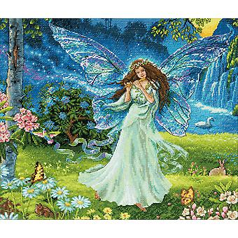 Gold Collection Spring Fairy Counted Cross Stitch Kit-14
