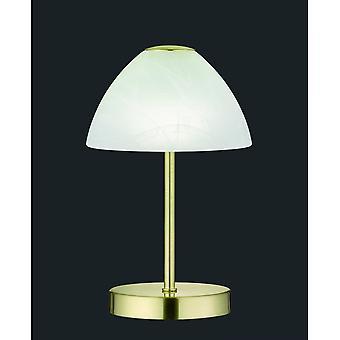Trio Lighting Queen Modern Brass Matt Metal Table Lamp