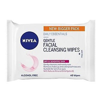 Nivea Gentle Facial Cleansing Wipes - Dry & Sensitive Skin