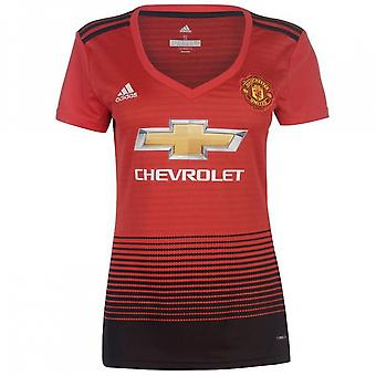 2018-2019 man Utd Adidas Womens hem skjorta