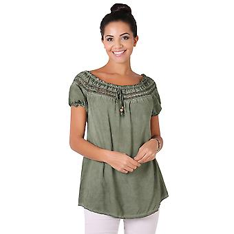 KRISP Loose Fit Gypsy camicetta Top