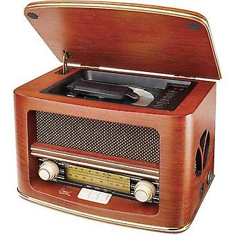 Tischplatte mit FM radio Dual NR 1 CD AUX, CD, AM, FM Holz