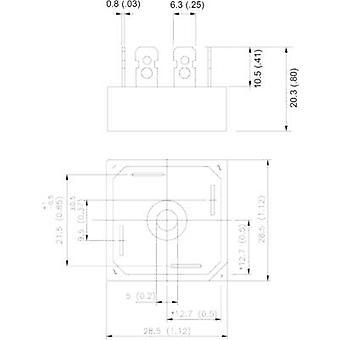 Vishay 36MB80A Diode bridge D 34 800 V 35 A 1-phase