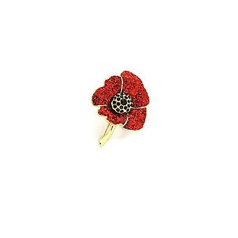 Union Jack dragen glinsterende Poppy broche