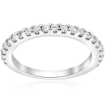 1 ct Diamond Wedding Ring 14k White Gold Womens Anniversary Stackable Jewelry