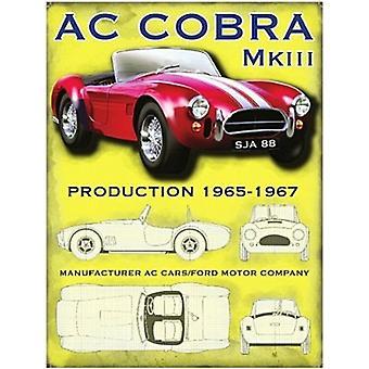 Ac Cobra Mk Iii Small Steel Sign 200Mm X 150Mm