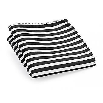 Handkerchief black white narrow striped wedding Fabio Farini Strip noble