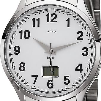 JOBO men's wristwatch radio radio clock stainless steel men's watch with date