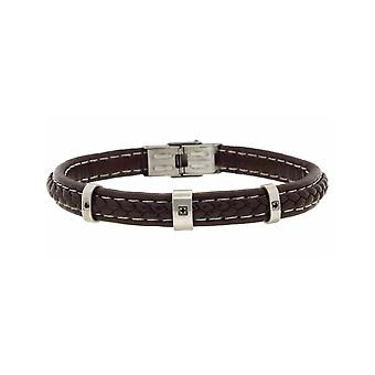 MANUEL ZED Brown Leather Bracelet
