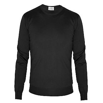 CC Collection Corneliani Corneliani Black Knitted Wool Jumper