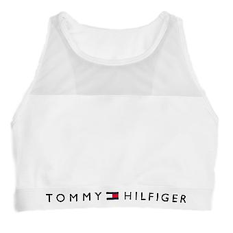Tommy Hilfiger Cotton Mesh Bralette  - White