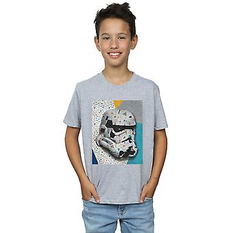 Star Wars Boys Stormtrooper Pattern Helmet T-Shirt