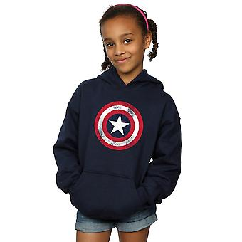 Marvel Girls Captain America Distressed Shield Hoodie