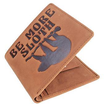 Sennep være mer Sloth Bifold og mynt pung - Brown