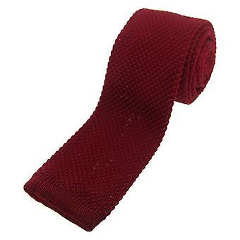 David Van Hagen Knitted Tie - Burgundy