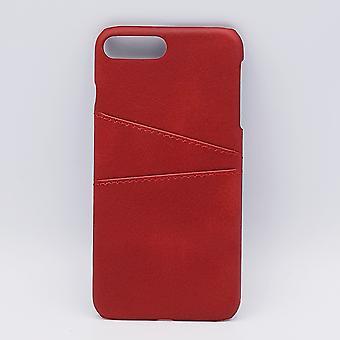 Für IPhone 7/8 Plus-Kunstleder zurück Abdeckung/Portemonnaie rot