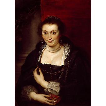 Портрет Изабеллы Брант, Питер Пауль Рубенс, 40x60cm с лотка