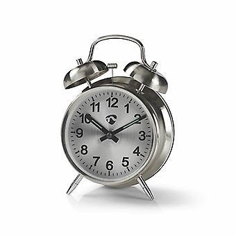 Analog alarm clock, Metal