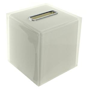 Gedy Rainbow Square Tissue Box White RA02 02