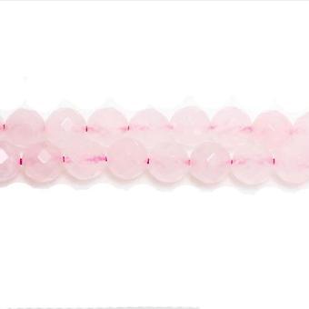 ستراند 38 + الوردي روز الكوارتز 10 ملم الوجوه الخرز جولة GS5464-4