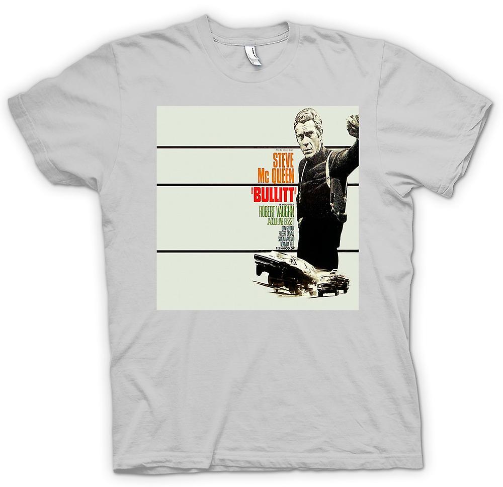 Mens T-shirt - Steve Mcqueen - Bullit - Poster