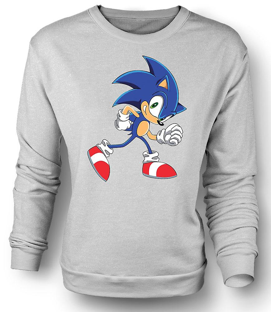 Mens Sweatshirt Run Sonic Run - Sonic The Hegehog