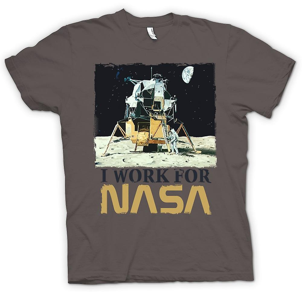 Womens T-shirt - I Work For Nasa - Moon Landing Conspiracy