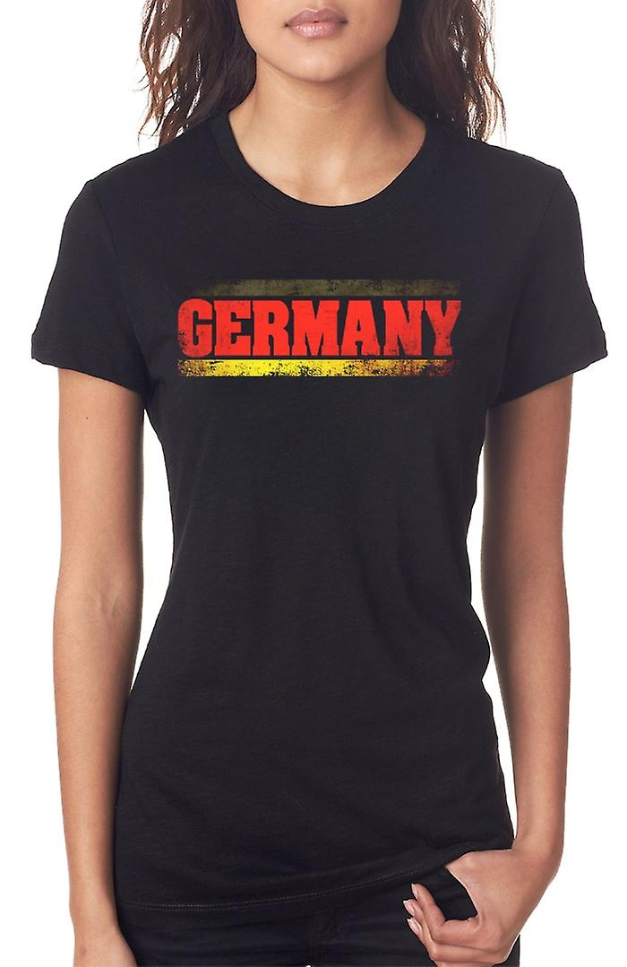 German Germany Flag - Words Ladies T Shirt