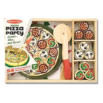 Melissa & Doug Pizza Party Wooden Play Food With 54 Toppings