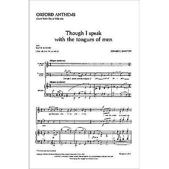 Though I speak with the tongues of men: Vocal score
