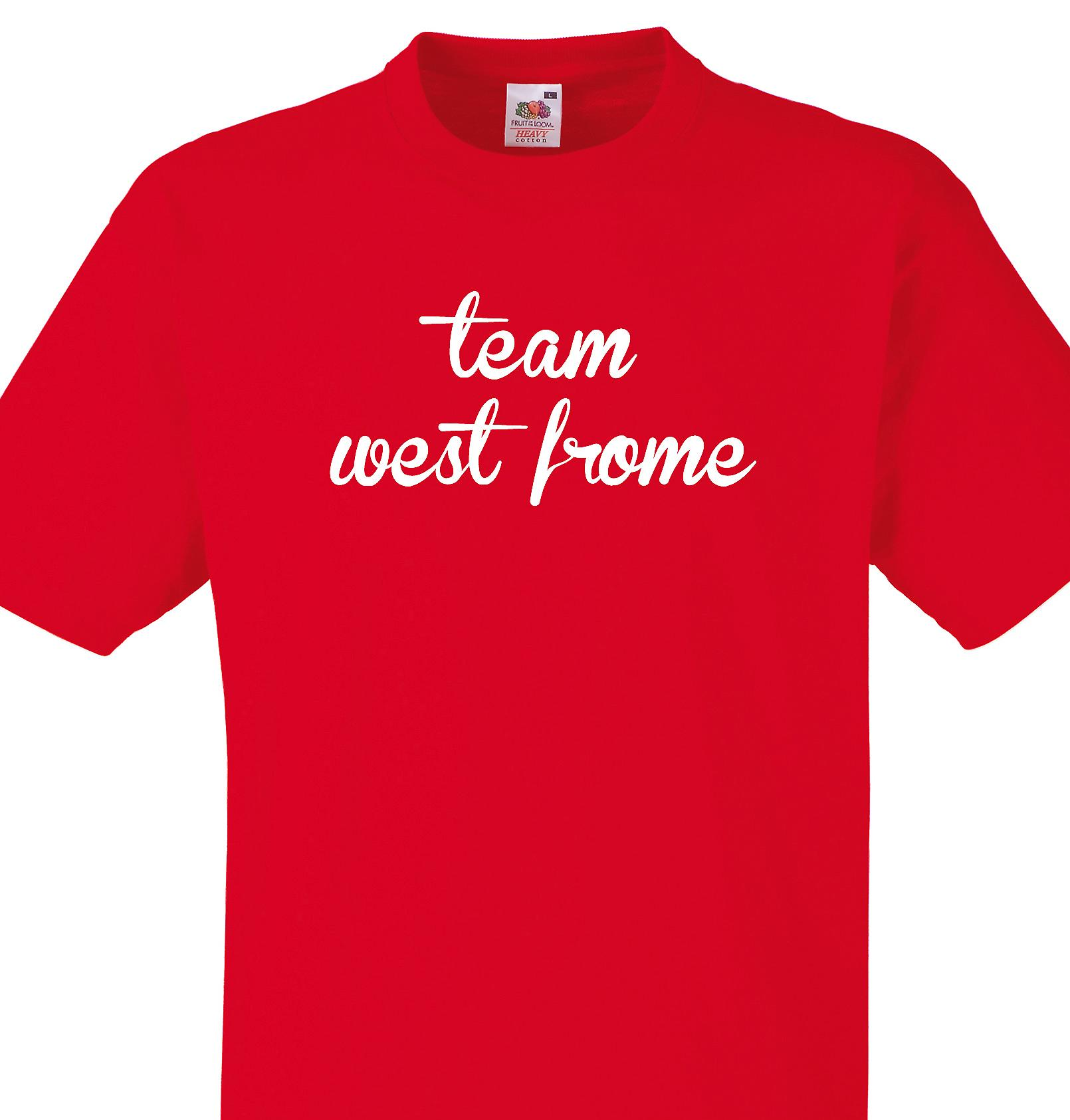 Team West frome Red T shirt